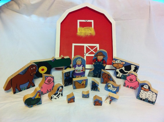 Handmade Wooden Farm Puzzle