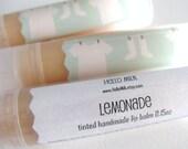 Lemonade - Yummy Handmade Gold Tinted Lip Balm 0.15 oz by HelloMilk on Etsy