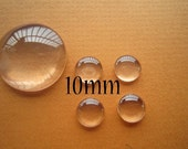 500pcs 10mm  Glass Cabochon For Pendants