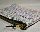 Naturally Dyed Hand-Knit Leather Clutch