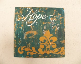 """12"""" X 12"""" Hope painting"""