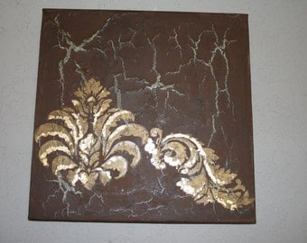 Decorative gold leaf  painting
