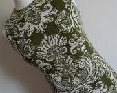 Psychedelic Pineapple . HAWAII . Linen Mix Dress Midi Metal Zipper 1950s 50s . M medium . Intricate Print