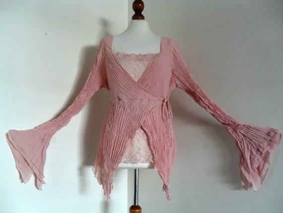 Reserved For L. Only . The Romantic Pirate .  Ash Of A Rose . Deconstructed Pleated Design Lagenlook XXL Rare Larger Plus Size
