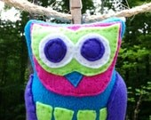 Hand-sewn Fleece & Felt Owl Plush Toy