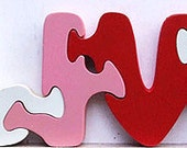 Personalized Wooden Name Puzzles (any six letter name)
