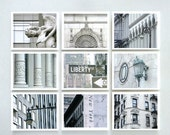 New York Photos - Photo Set Of Nine - New York City In Soft Ivory And Grey - 10 X 8 Inch Prints - Wall Art - Wall Decor - Retro - Vintage