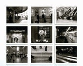 New York Photography - Print Set Of Nine - New York Grand Central In Black And White - 10 X 8 Inch Prints - Wall Art - Gift