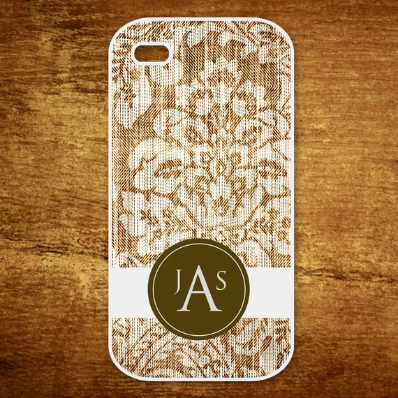 Silicone Iphone 4/4S Personalized Case - Monogram