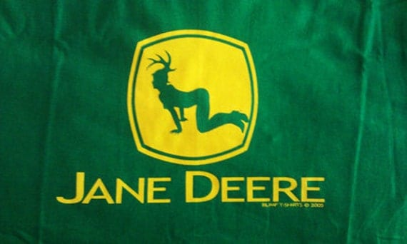 items similar to funny john deere parody tshirt jane deere