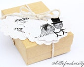 ECO Custom Wedding Tags // BANANA FIBER // Natural // Sustainable Biodegradable Labels