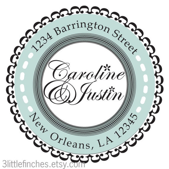Formal Address Labels // Traditional Wedding // 105 pcs // Personalized // Glossy