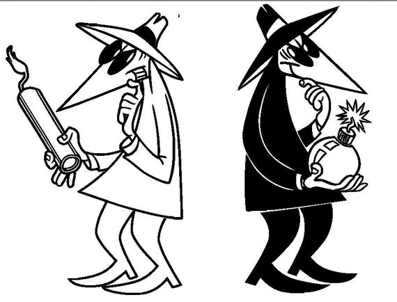 spy gear coloring pages | Spy vs. Spy Vinyl sticker