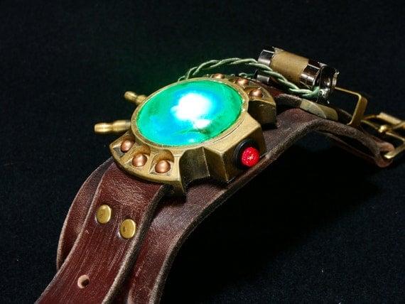 Steampunk wrist device watch