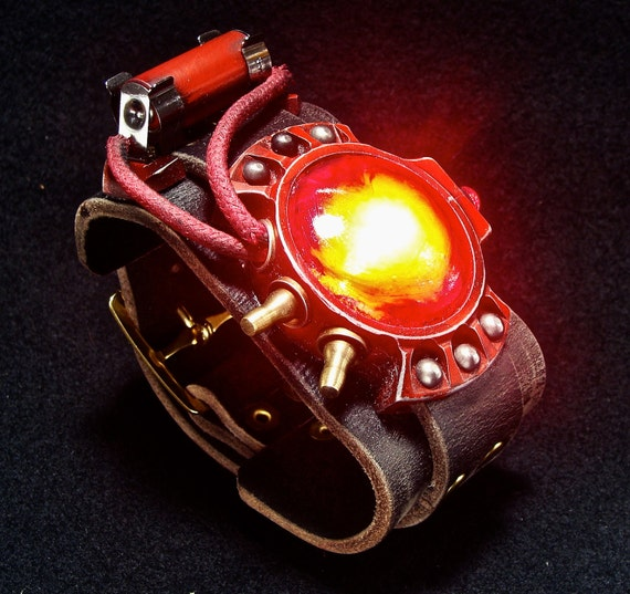 Steampunk wrist device watch