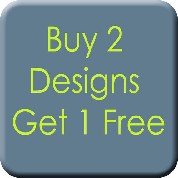 Applique Design SALE - Buy 2 Designs, Get 1 FREE - Machine Embroidery Applique Designs