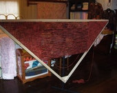 7 Foot TRIANGLE LOOM with instructional dvd Made of Poplar Wood