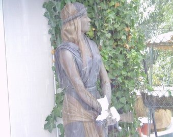 Bronze Life Size Statue of Warrior Woman.