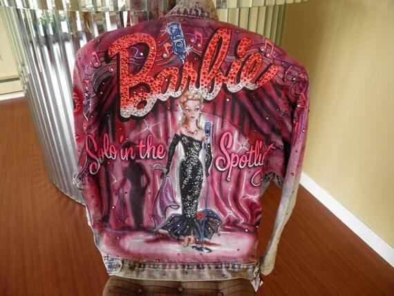 Barbie Denim Jacket By Tony Alamo Rhinestone