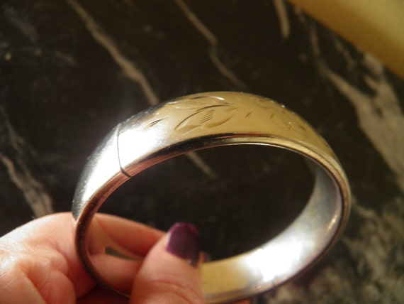 Sterling Silver Bangle Etched Bracelet,  WAS 135.00   NOW ***95.00***