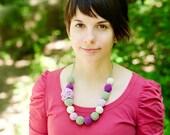 Spring necklace - Flower necklace pastel - Light pastels necklace