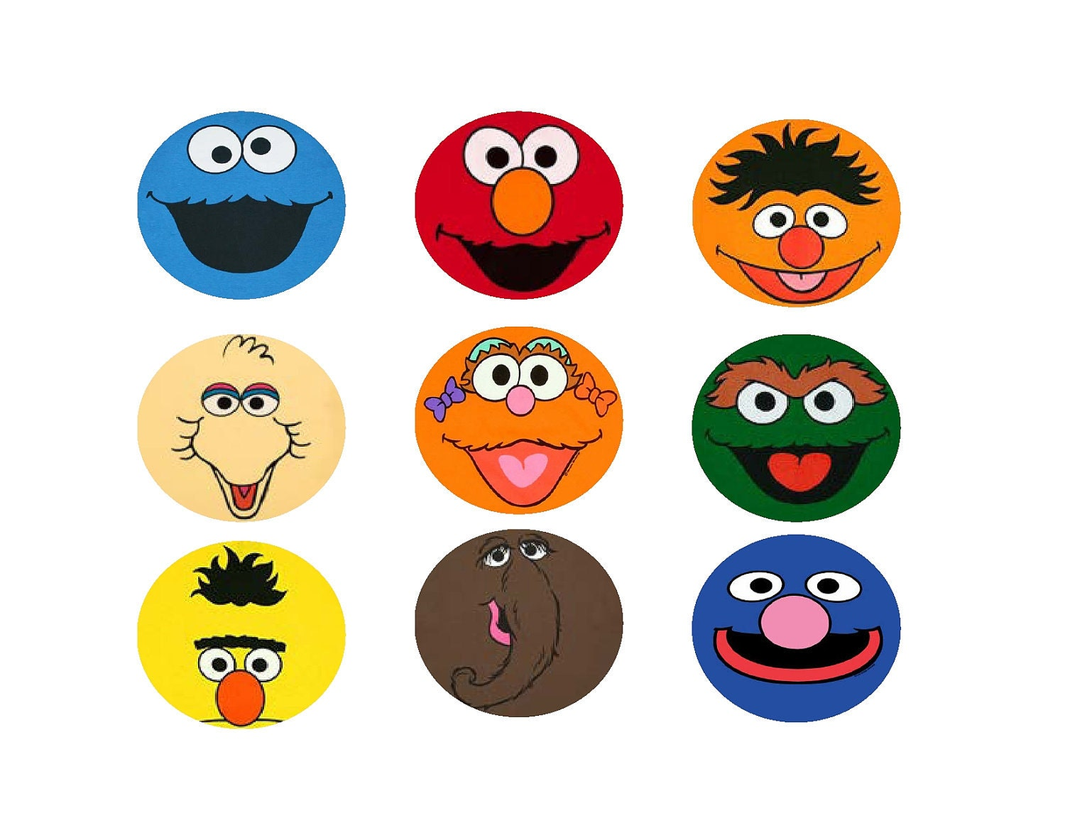Dynamite image for printable sesame street characters