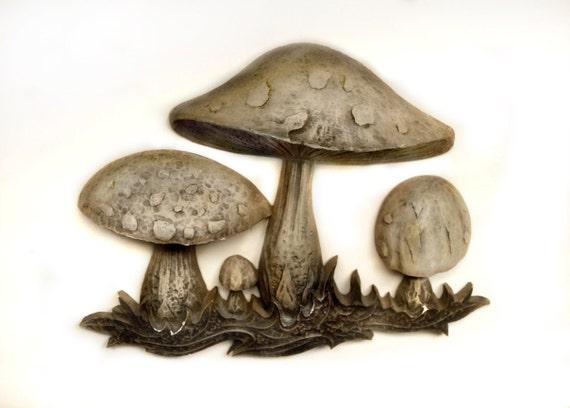 Groovy 1970s Mushroom 3D Wall Art