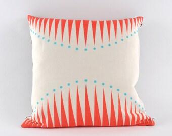 Coral Circus Triangles Cushion - pillow
