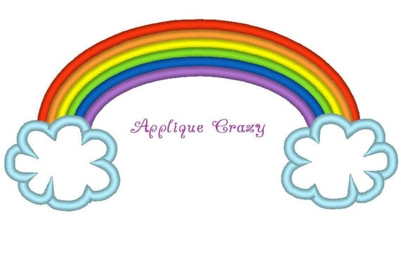 Rainbow Applique embroidery design
