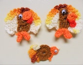 Thanksgiving, Crochet, Turkeys, Magnets, Gift toppers, Prizes