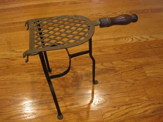Items similar to Vintage Iron Fireplace Kettle Holder on Etsy