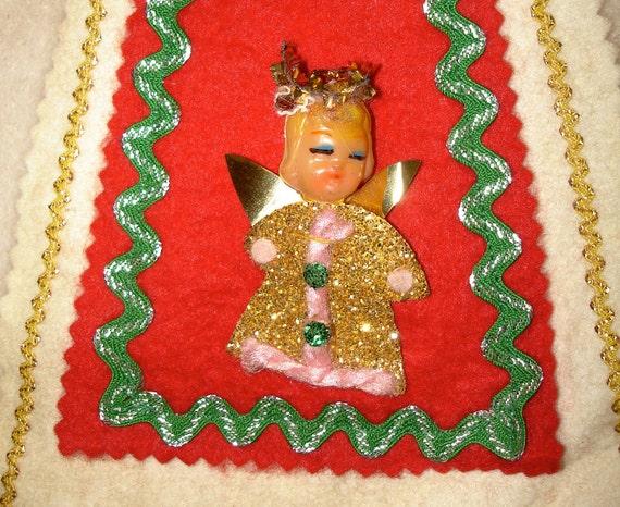 Christmas DOORKNOB HANGER -handmade kitsch-
