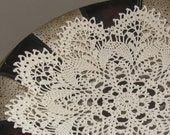 cream crocheted lace doily