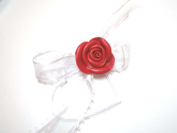 Houseware Leather Rose Napkin Rings set of 4