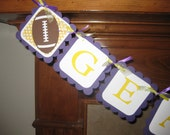 LSU Football Party Banner (can customize to your team)