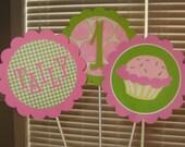 Cupcake Themed Centerpiece