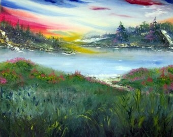 """River of Glory Oil Painting 32""""x32"""" on canvas"""