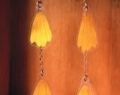 Yellow Coreopsis Pressed Flower Petal Earrings