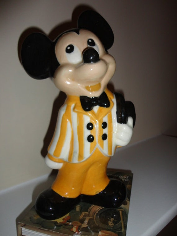 Items Similar To Vintage Ceramic Mickey Mouse Figurine