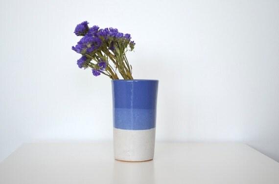 R E S E R V E D for Graziela - Ombre vase ceramics pottery hand signed