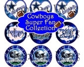 Momma Eva's -- INSTANT DOWNLOAD /Dallas Cowboys SUPER Fan Inspired Collection /4 x 6 /1 in Circles /Bottle Caps Hair Bows/Shop