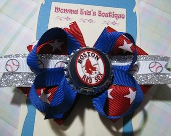Momma Eva's -- I LoVe BaSeBaLL // My Team Rocks -- YouR CHoiCe Of Team -- Texas Rangers, Boston Red Sox, LA Dodgers Inspired Bows