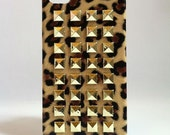 Studded Leopard iPhone Case Gold Studs Back Case iPhone 4/ 4S