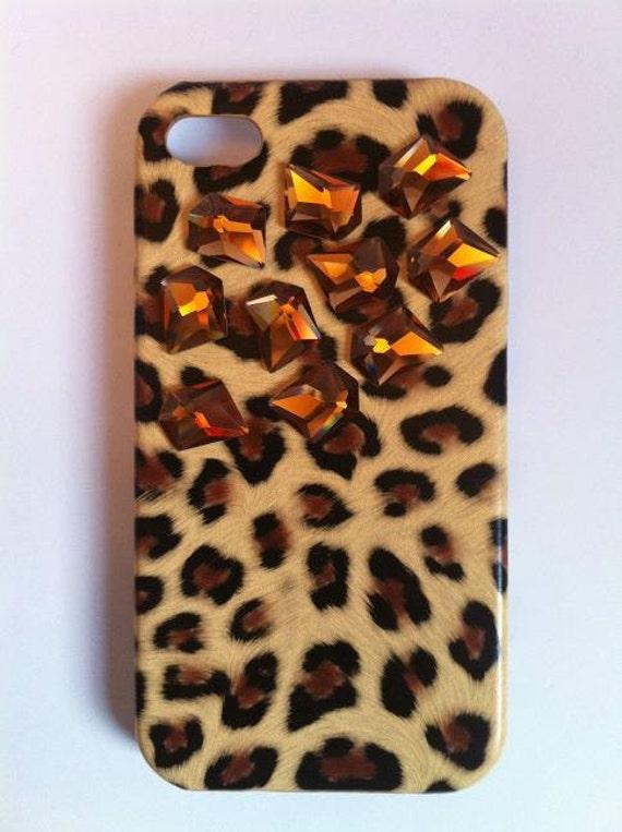 Rhinestone Leopard iPhone Case Crystal Leopard Phone Case iPhone 4/ 4S