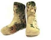 Boots Hand Painted Suede- Example for Custom Order