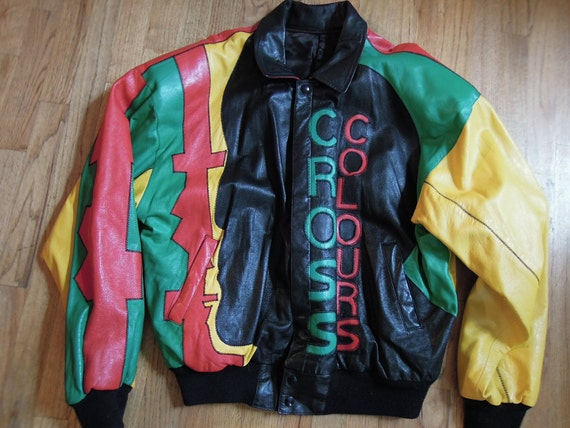 ON HOLD for overandoverture16 only. Reversible Cross Colours Leather JAcket OMG this jacket is INsane