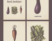 Eat Better Feel Better Collection - ANY 3 PRINTS - Inspirational Rustic Wall Art Print Poster Home Decor 8x10 Vegetables