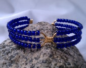 Free Shipping / Lapis Ancho Versatile Cuff