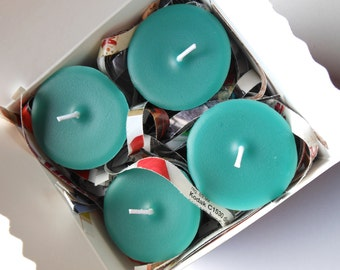 Peacock Soy Replacement Votive Candles 4 Pack Gift Box