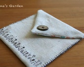 simple and modern pouch made by linen
